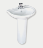 AQUASAN Economy Full Pedestal Wash basin with mixer