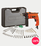 Black+Decker 650W Hammer Drill + 50 Accessories